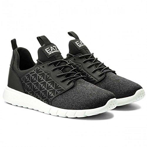 Emporio Armani EA7Herren Schuhe Turnschuhe Sneakers Schwarz, 8P299-248052-0020, Schwarz/Weiß, 11 UK
