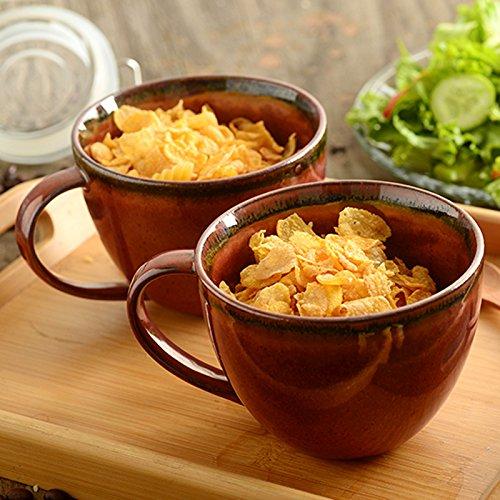 Coppa vetro latte caffè di ceramica tazza mug tazza tazza dei cereali per la colazione di tè tazza tazza, 12 * 9cm