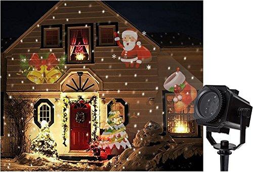 KRISMILEN Star fiocco di neve luce proiettore film LED esterno impermeabile prato decorazione Natale lampada