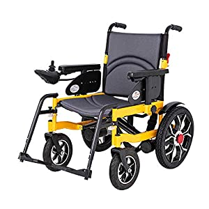GYH Electric Wheelchair, Four-Wheeled Scooter for The Disabled, Folding Portable Turbine Motor Wheelchair, Load 100kg (#)