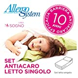 Set Antiacaro Allergosystem Sogno: coprimaterasso Antiacaro con cerniera per letto...