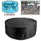 Funda para sofá de jardín redonda, protección para mesa