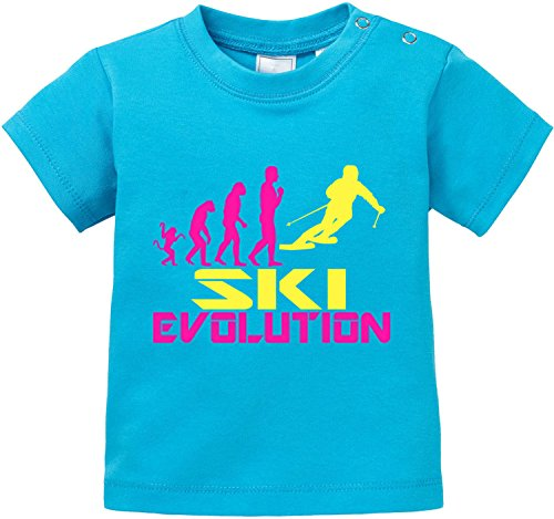 EZYshirt® Ski Evolution Baby T-Shirt