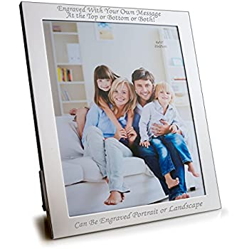 personalised 10 x 8 silver plated photo frame can be engraved with your - Engraved Photo Frame