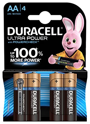 Duracell Ultra Power Typ AA Alkaline Batterien, 4er Pack