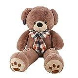 MISJIA Plush Toy Teddy Bär Puppe große Bogen-Krawatte tragen Kissen Mädchen Geburtstagsgeschenk Valentine Jahrestretung-Mumierung tragen Puppe Fyxd,130cm