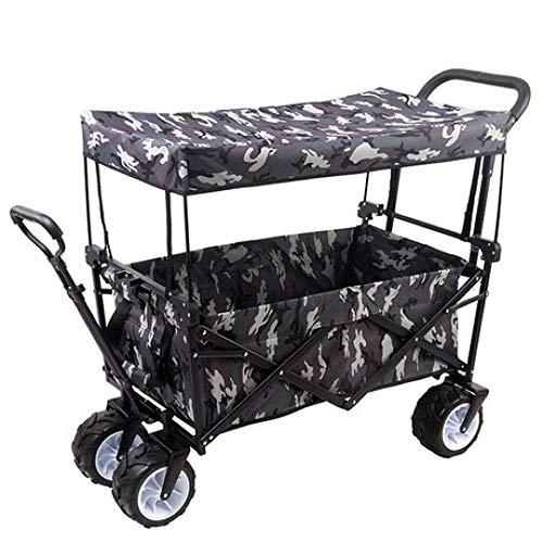 en Gepäckwagen Warenkorb Falten tragbare Heimcamping Outdoor-Angelhebel kaufen Gemüsehand-Push-Anhänger,c ()