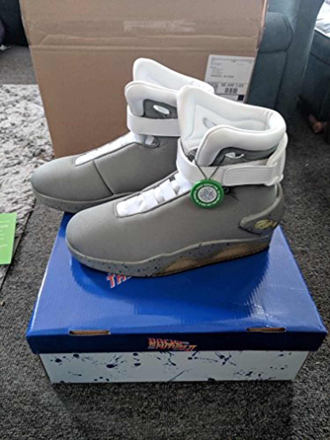 Back to the Future 2 Light Up Shoes Size 9 -