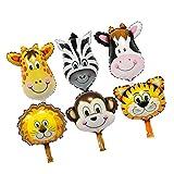 Sharplace Tier Folienballons Luftballons Zoo Tier Kopf Heliumballons Tierluftballons für Kinder Geburtstag Party