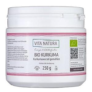 Kurkuma Pulver Bio 250g Kurkumawurzel gemahlen