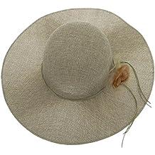 EOZY Sombrero de Sol Ala Ancha con Barbijo para Mujer