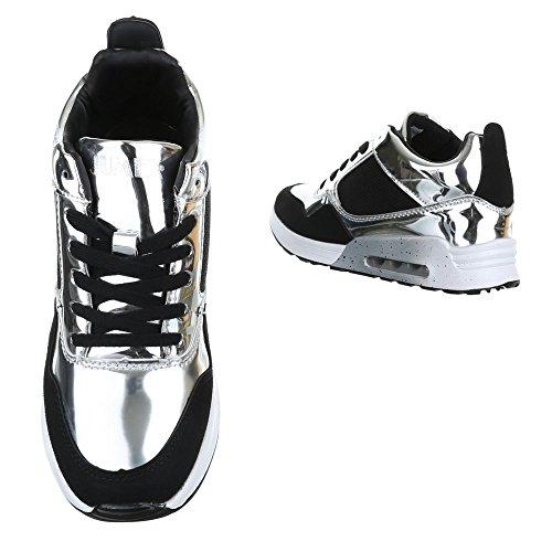 Ital-Design - Pantofole a Stivaletto Donna Argento