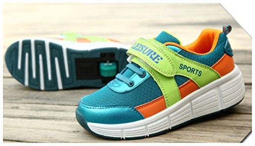 NEWZCERS , Chaussures spécial skateboard pour femme Blau (Einzelrad)