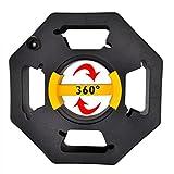 ProPlus Kabeltrommel Leer Kabelbox mit Gleitgriffschale Gartenkabeltrommel Drehknopf Handkabeltrommel nutzbar als Seiltrommel, Schlauchtrommel, Kabeltrommel- Rechts- Linkshänder