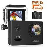 CAMKONG WiFi Action Cam Sport con Custodia Impermeabile Full HD 1080P 14MP 170° Grandangolare 2.0 Pollici 2x1050mAh Batterie e Kit Accessori - CAMKONG - amazon.it