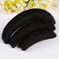 AASA Hair Bumpits For Puff, Hair Style Volumizer Accessories For Women, Black, 10 Gram, Pack Of 1 (10093)