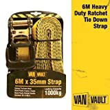 Van Vault S10676 6 m x 35 mm Heavy duty Ratchet Strap - Yellow
