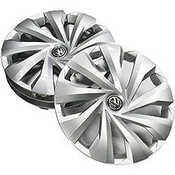 Volkswagen 2G0071455 Hub Caps Silver 15 Inch Wheel Trims (4 Pieces) Wheel Caps/