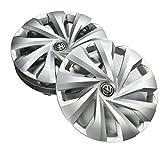 Volkswagen 2G0071455 Radkappen 15 Zoll Radzierblenden Silber (4 Stück) Radblenden Kappen Stahlfelgen