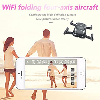 Hanbaili Mini Foldable Drone With Car Shape,Quadcopter With Cameras FPV WiFi Iphone Control,Headless Mode,Christmas gift for Kids