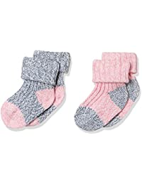 Mothercare Baby Girls' Regular Fit Cotton Socks (Pack of 2)