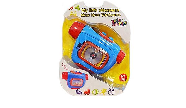 BAKAJI Videocamera Telecamera Giocattolo Bambini con Luci ed Effetti Sonori Gioco Interattivo Educativo primainfanzia Bimbi
