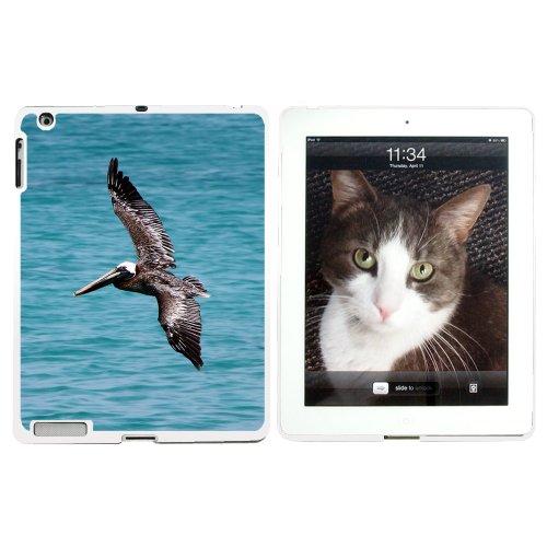 Brown Pelican Flying Snap-on Hartschalen-Schutzhülle für Apple iPad 2/3/4, Weiß