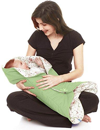 8df4c310e8a38d Wallaboo Babynomade Couverture enveloppante Leaf,Couverture pour Bébé,  Pratique et élegante, Daim microfibre