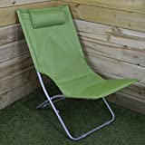 Lightweight Folding Canvas Camping / Garden Chair in Green