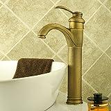 Waschbecken Wasserhahn antik inspirierte Design antique brass Wasserhahn Einhand