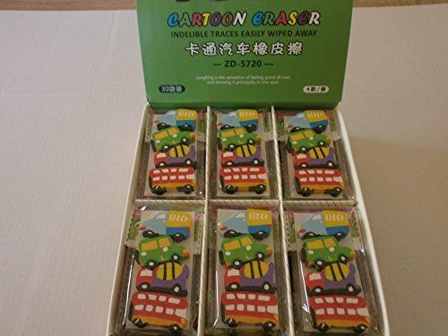 24 Radiergummi Auto Car Eraser