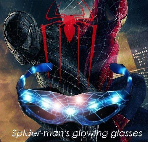 Leuchtende Wandaufkleber mit Spiderman-Maske für Halloween, Partys