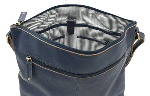 Borsa A Tracolla In Pelle Harper Collezione A4 In Pelle Mala / Tracolla 778_80 Blu Blu