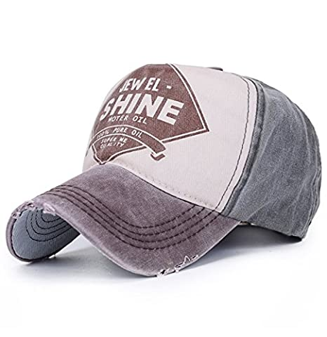Vintage Trucker Cap Distressed Gas Oil Print Baseball Hat