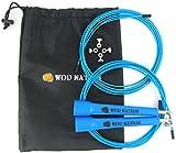 WOD Nation Speed Rope Springseil - Blau - Blitzschnelles High Speed Seil für Sportarten wie CrossFit, Boxen, MMA, Kampfsport oder einfach zum Fitbleiben. Einstellbar für Männer, Frauen und Kinder.