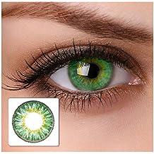 "Farbige Kontaktlinsen ""cool green"" 2x grüne Kontaktlinsen ohne Stärke + gratis Kontaktlinsenbehälter"