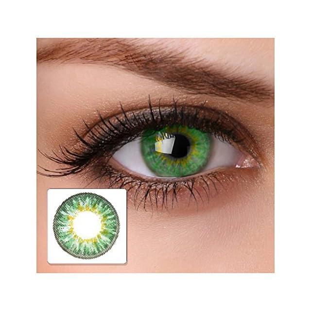9b955f657fd22 lentilles de contact de couleur verte   sans correction   cool green   pour  œil clair ...