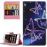 HUAWEI CASE COVER Funda de piel de patrón Huawei Y5 II Ojos con portador y ranuras para tarjetas y cartera ( SKU : MLC0777H )