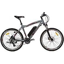 """Moma - Bicicleta Eléctrica Montaña 26"""" Full aluminio, SHIMANO, doble disco de freno, Batería Ion-Litio 36V 16Ah"""