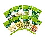 Dehner Bio Keimsprossen, 8 Sorten, Kresse, Brokkoli, Rettich, Radies, Weizen, Rauke, Bohnen, Alfalfa -