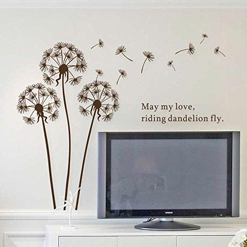 walplus-dandelion-adhesivos-decorativos-de-vinilo-diseno-de-diente-de-leon
