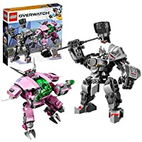 LEGO 75973 Overwatch D.Va & Reinhardt Minifigures with Mech Suits, Buildable Toys