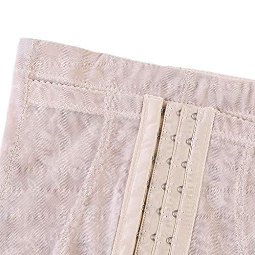 Rabbiter Damen Shapewear Figurformender,Spitze Atmungsaktiv Formende Bodys, Elegant Hohe Taille Taillenformer angenehm Shaping Bodysuit mit Haken - 5