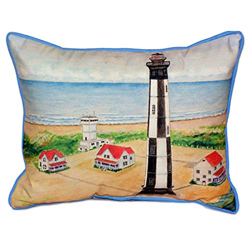 Cape Henry Lighthouse (Betsy Drake Cape Henry Lighthouse Extra Groß 20x 24Indoor/Outdoor Kissen)