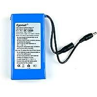 Egomall 3000mA-20000mA 12 V DC super recargable de ion de litio para puertas con batería recargable para cámaras de videovigilancia DVR GPS mini altavoz de productos digitales y juguetes, 9800mA