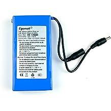 Egomall Batteria al litio batteria super ricaricabile, 3000 mA - 20000 mA, DC, 12 V, bi-direzionale per telecamere di video-sorveglianza DVR GPS, mini altoparlante di prodotti digitali e di giocattoli, 9800mA