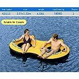 WOTR Große Wasser-Berg-Sich hin- und herbewegendes Bett, aufblasbarer Swimmingpool des Sommers im Freien, der Reihe-Erwachsenkinderschwimmring für4 Leute -251 × 132CM schwimmt