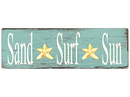 shabby-retro-blechschild-metallschild-turschild-sand-surf-sun-dekoschild-strand