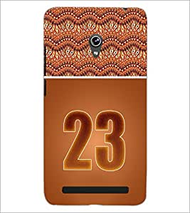 PrintDhaba Numerology Number 23 D-3658 Back Case Cover for ASUS ZENFONE 6 A601CG (Multi-Coloured)