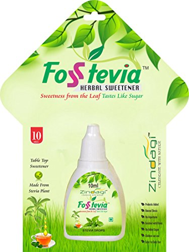 Zindagi FosStevia Liquid - Stevia Liquid Is Better Than Stevia Tablet - Natural Sugar-Free (200 Servings)